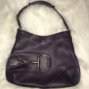 Gucci dark purple leather purse bag Authentic
